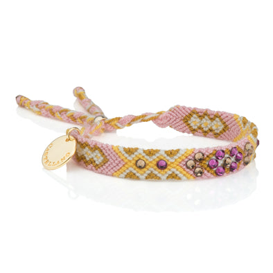 Pulsera Wayuu Be the Change - Rose