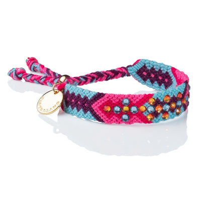 Pulsera Wayuu Give Back - Aqua & Pink