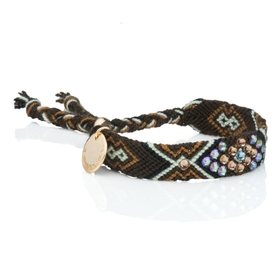Pulsera Wayuu Give Back - Cafe/menta