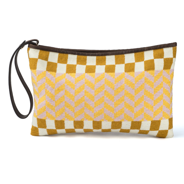 Kululu Clutch Beige-Yellow