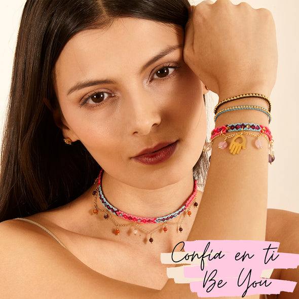Set Be you: Choker y pulsera Cuarzos