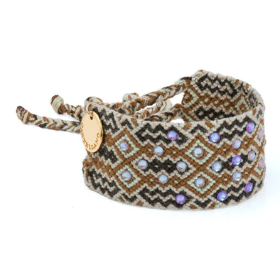 Pulsera Wayuu Girl Power - Black Brown