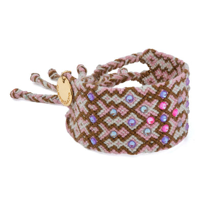 Pulsera Wayuu Girl Power - Rose Brown