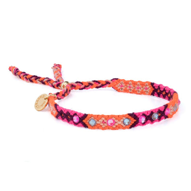 Wayuu Skinny Bracelet-Orange