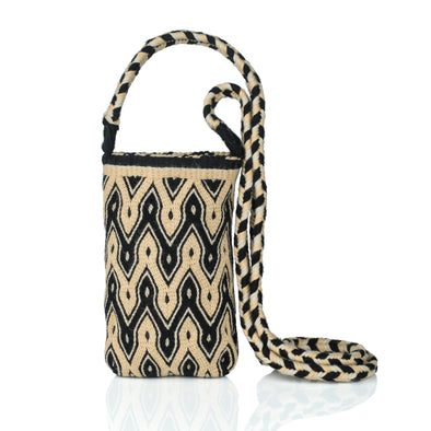 Makki Mini Wayuu Crossbody Bag - BLACK/BEIGE