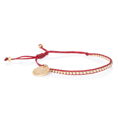 Pulsera Gold Power. Color Rojo