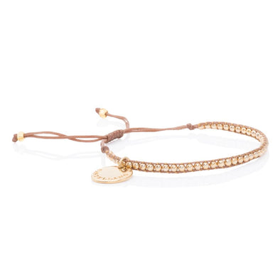 Pulsera Gold Power. Color Beige