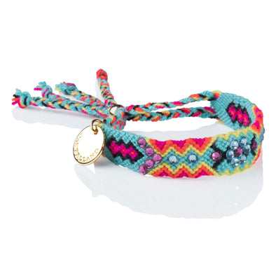 Pulsera Wayuu Give Back - Aqua