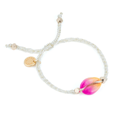 Cowrie Shell Bracelet - Pink