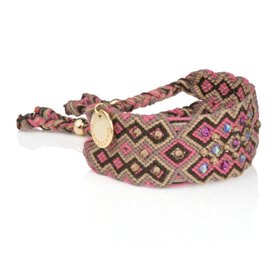 Pulsera Wayuu Girl Power - Rosa