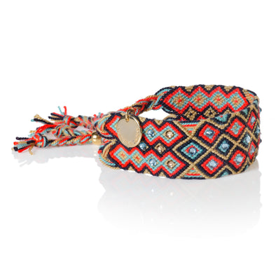BRD1801- Girl Power Bracelet - Red Blue
