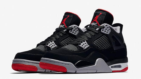 Air Jordan 4 Bred Classic Sneakers Black jordan kicks