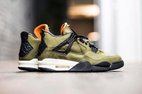 Air Jordan 4 olive custom jordan sneakers jordan kicks