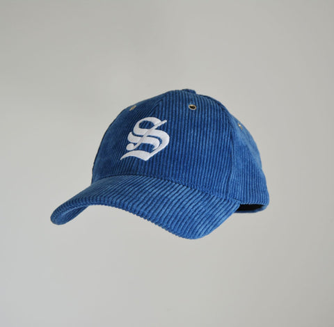 "Vintage ""S"" Corduroy Ball Cap - North Sea Blue"