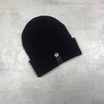 Black ribbed beanie streetwear urban headwear