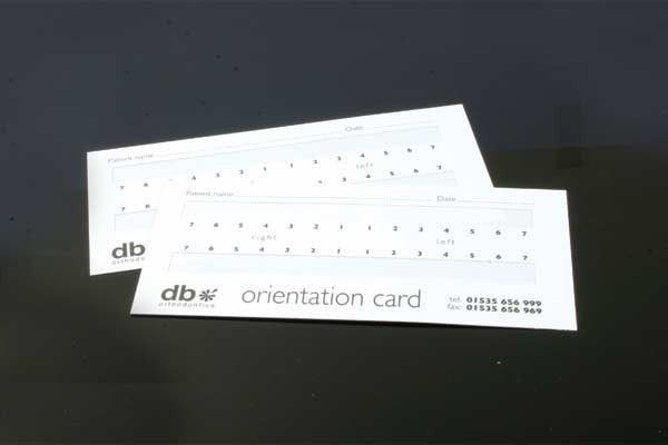 Orientation Cards With Adhesive Strips