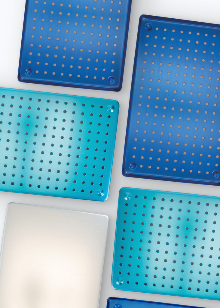 Aluminum Perforated Tray Large Base