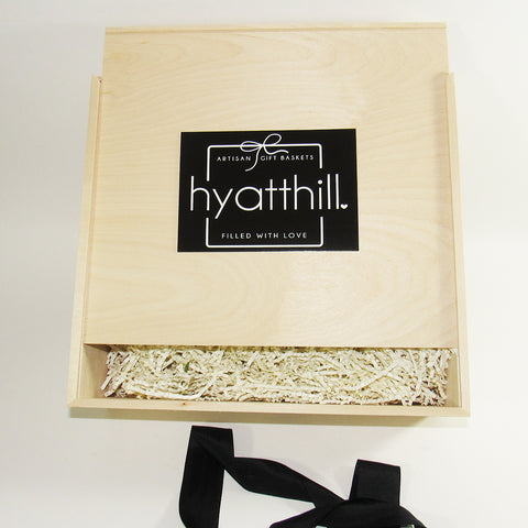 Wood Box - HyattHill.com - HyattHill Gifts - Unique Gift Baskets