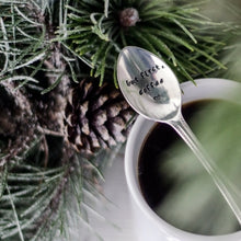 But First Coffee - Hand Stamped Vintage Coffee Spoon - One Mama One Shed