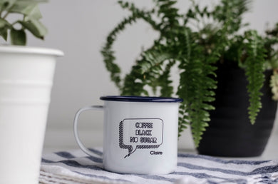 Drink Preference - Engraved Enamel Mug - One Mama One Shed