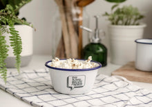 Eat Sleep Snack Repeat - Engraved Enamel Snack Bowl - One Mama One Shed
