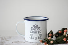 Happy Camper - Engraved Enamel Mug - One Mama One Shed