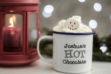 Hot Chocolate - Engraved Enamel Mug - One Mama One Shed