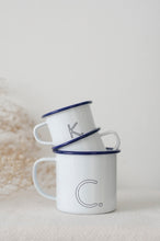 Monogram Mug - Engraved Enamel Mug - One Mama One Shed