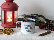 Mulled Wine - Engraved Enamel Mug