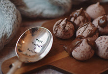 Naps, Netflix and Nutella - Hand Stamped Vintage Spoon - One Mama One Shed