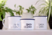 Babyccino - My Ccino Mugs For Babies and Toddlers - Engraved Enamel Mug - One Mama One Shed