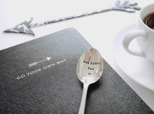 But First Tea - Hand Stamped Vintage Tea Spoon - One Mama One Shed