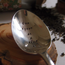 One Spoon at a Time  - Spoon Theory - Spoonie - Chronic Illness - Hand Stamped Vintage Table Spoon - One Mama One Shed