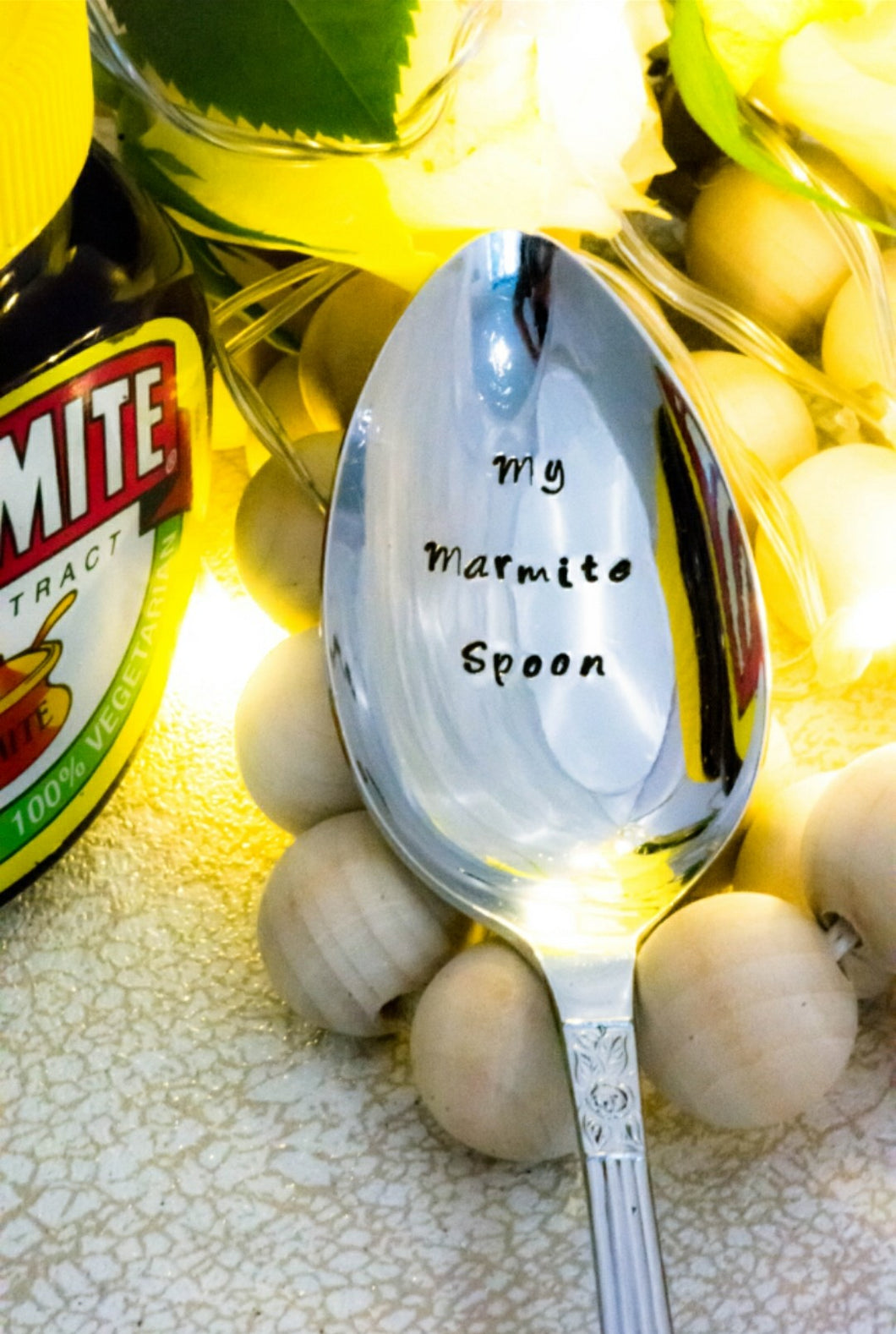 MY Marmite Spoon - Hand Stamped Vintage Tablespoon - One Mama One Shed