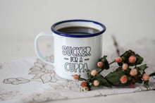 Sucker For A Cuppa - Engraved Enamel Mug - One Mama One Shed