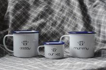 Mummy - Manchester Design - Engraved Enamel Mug - One Mama One Shed