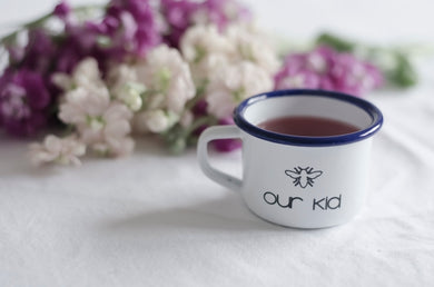 Our Kid - Manchester Design - Engraved Enamel Mug