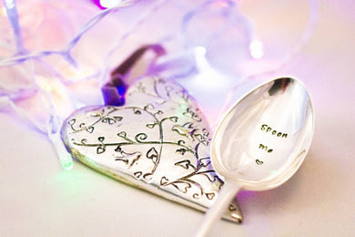 Spoon Me - Hand Stamped Vintage Tablespoon - One Mama One Shed