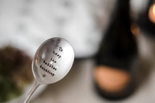 To Keep The Bubbles Bubbling - Prosecco and Champagne Bottle Stopper Spoon - One Mama One Shed
