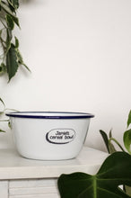 Personalised Cereal Bowl - Engraved Enamel Breakfast Bowl - One Mama One Shed