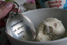 Emergency Ice Cream Spoon - Handstamped Spoon Keyring - One Mama One Shed