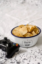 Personalised Gaming Snacks - Engraved Enamel Snack Bowl - One Mama One Shed