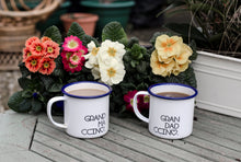 Grandadccino - My Ccino Mugs For Grandfathers - Engraved Enamel Mug - One Mama One Shed