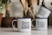 #teamTOMM - Limited Edition Engraved Enamel Mugs - by One Mama One Shed X The Organised Mum