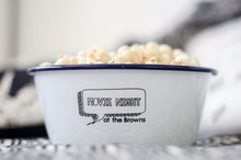 Movie Night - Engraved Enamel Snack Bowl - One Mama One Shed