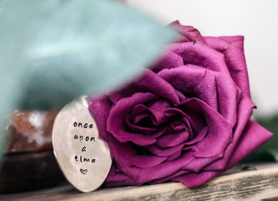 Once Upon A Time - Vintage Hand Stamped Teaspoon Book Mark/Page Clip - One Mama One Shed
