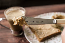My Peanut Butter Knife - Hand Stamped Vintage Knife - One Mama One Shed