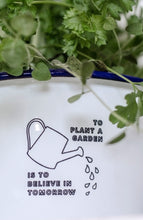 To Plant a Garden Is To Believe In Tomorrow - Engraved Enamel Planter - One Mama One Shed