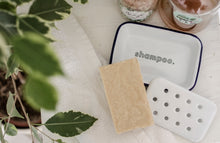 Shampoo - Engraved Enamel Soap Dish - One Mama One Shed
