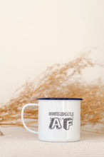 Sustainable AF - Engraved Enamel Mug - One Mama One Shed